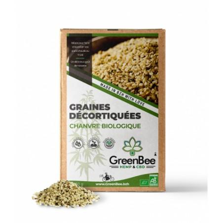Graines décortiquées de chanvre biologique - GreenBee - 250g
